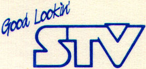 CFRE-DT - Logo used while as STV, used from 1987-1997. Shared with CFSK Saskatoon.