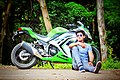 Sachin Rathod image with his own ninja 300.jpg