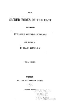 Sacred Books of the East - Volume 18.djvu