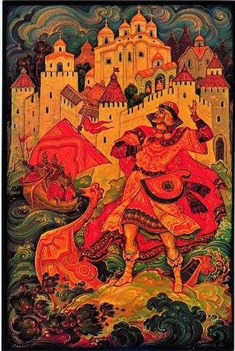 Sadko - Sadko, Palekh miniature