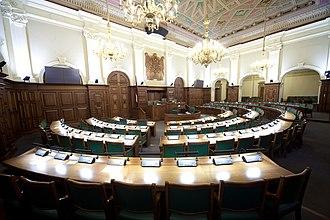 House of the Livonian Noble Corporation - Image: Saeimas sēžu zāle Flickr Saeima (3)