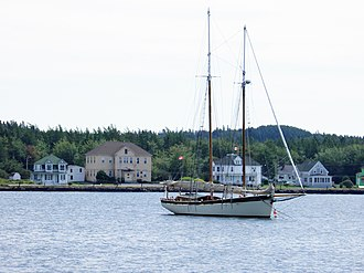 LaHave River - Image: Sailboat on Creaser's Cove