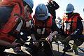 Sailors conduct replenishment-at-sea training. (8434693481).jpg