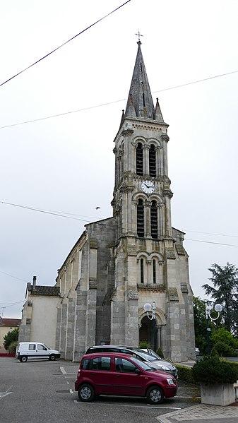 Saint-Sylvestre's church in Saint-Sylvestre-sur-Lot (Lot-et-Garonne, Aquitaine, France).