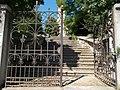 Saint Ladislaus church Eszterházy Antal street's gate in Veszprém, 2016 Hungary.jpg
