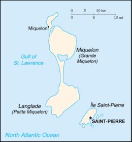Saint-Pierre e Miquelon - Mappa