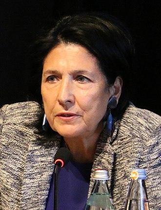 2018 Georgian presidential election - Image: Salome Zurabishvili in 2018 (cropped)