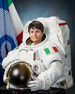 Samantha Cristoforetti official portrait in an EMU spacesuit