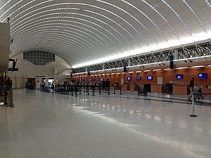 San Antonio International Airport - Main ticketing area.