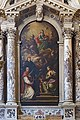 San Lio (Venice) - Pale d'altare - Padre Celeste con santi – Marco Evangelista, Antonio, Lucio, et Luigi – Antonio Novelli 1779.jpg