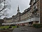 Sanatorium du Basil and a bicycle, looking West (Stoumont, Belgium, DSCF3491).jpg