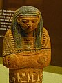 Sandstone Ushabti for the songstress of Amun Nubnefret from tomb SA 14 Anibeh Nubia 19th Dynasty Egypt 1275 BCE Penn Museum 02.jpg