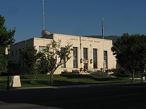 Sanpete County, Utah - Image: Sanpete county courthouse utah 9 18 2010