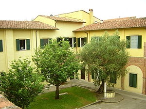 Sant'Anna School of Advanced Studies - View of the courtyard of Sant'Anna School of Advanced Studies