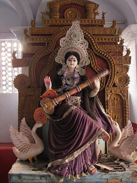 filesaraswati puja ishwar pathshala comilla jpg wikimedia commons