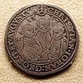 Sassonia, cristiano II con johann georg e friedrich willhelm di sassonia-altenburg, tallero del 1591.JPG