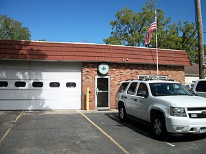 Sayville, New York - Community Ambulance Company on Swayze Street just west of Railroad Avenue in 2012. The company moved to Lakeland Avenue and Chester Road in October 2014.