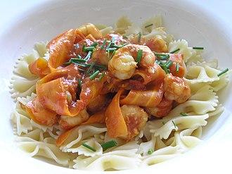 Scampi - Scampi in picante tomato sauce