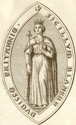Blanche of Navarre, Duchess of Brittany - Image: Sceau de Blanche de Navarre Duchesse de Bretagne