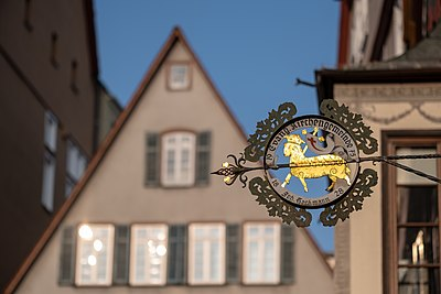 Schild des evangelischen Gemeindehauses Lamm in Tübingen 2019.jpg