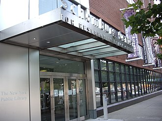 Schomburg Center for Research in Black Culture - The entrance to the Center