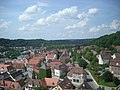 Schwäbisch Hall Jul 2012 24 (view from St. Michael belltower).JPG