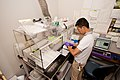 Scientist prepares samples for the Inductively Couples Plasma Mass Spectroscopy (ICP-MS) analysis.jpg