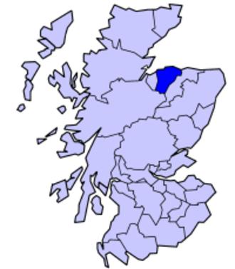 County of Moray - Image: Scotland Morayshire 1889