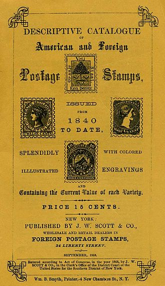 Scott catalogue - Cover of the first Scott Catalog, 1868