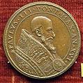 Scuola romana, medaglia di paolo III e ganimede che annaffia gigli farnese, 1549.JPG