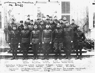 Frank P. Lahm - Lahm (center front row) and the staff of the Air Service, Second Army, November 1918
