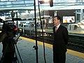 Secretary Davey, MBTA Blue Line Airport Station, November 9, 2011 (6328414499).jpg
