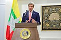 Secretary Kerry Addresses Reporters during News Conference following his Bilateral Meeting with Myanmar Foreign Minister San Suu Kyi in Naypyitaw (26890634480).jpg