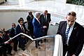 Secretary Kerry Walks With Egyptian Foreign Minister Shoukry Between Meetings Focused on Gaza Strip Cease-Fire Proposal (14558346697).jpg