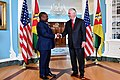 Secretary Tillerson Shakes Hands With Mozambique President Nyusi Before Their Meeting in Washington (35304164925).jpg
