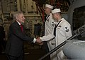 Secretary of the Navy Ray Mabus, left, meets with U.S. Sailors assigned the littoral combat ship USS Freedom (LCS 1) during his tour aboard the ship at Singapore May 11, 2013 130511-N-PD773-050.jpg