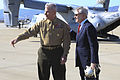 Secretary of the Navy Ray Mabus greets a U.S. Marine Corps Lieutenant General John A. Toolan Jr 140110-M-SD211-127.jpg