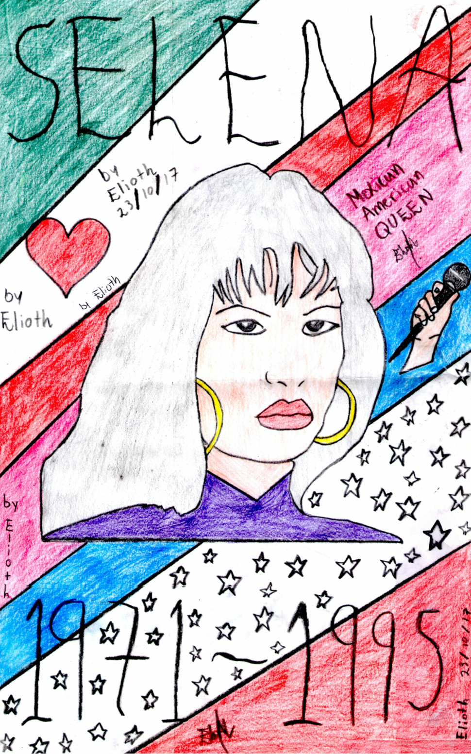 Selena Drawing by Elioth