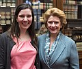 Senator Stabenow meets with a Michigan constituent. (15870314964).jpg