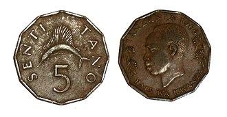 Tanzanian shilling - Image: Senti Tano (5 Tz Sh)