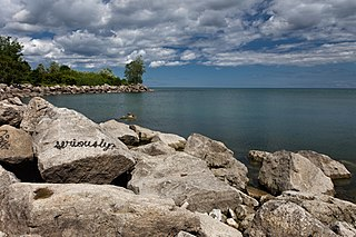 Ashbridges Bay bay in Ontario, Canada