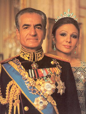 English: Shah of Iran and Empress Farah