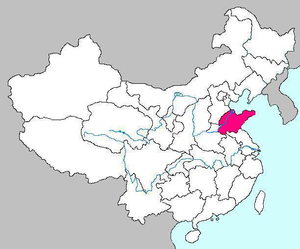 Map of Shandong Province of China