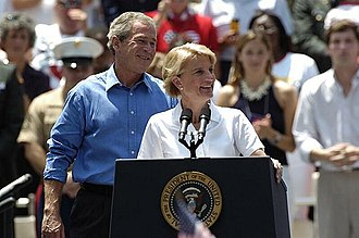 Capito with President George W. Bush in 2004 Shelley Moore Capito introduces President George W. Bush during his visit to West Virginia.jpg