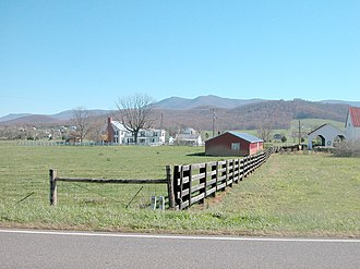 Shenandoah Valley - A farm in the fertile Shenandoah Valley