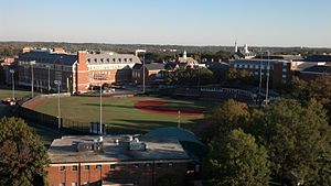 "Maryland Terrapins baseball - Shipley Field at Bob ""Turtle"" Smith Stadium, as viewed from Byrd Stadium, October 2013"