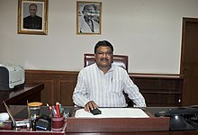 Shri Jual Oram taking charge as the Union Minister for Tribal Affairs, in New Delhi on May 27, 2014.jpg