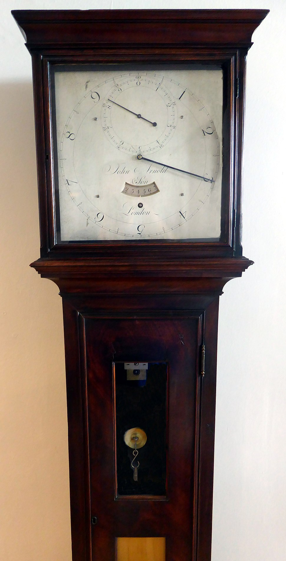 Sidereal Clock made for Sir George Augustus William Shuckburgh