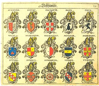 Coat of arms of Valais - Image: Siebmacher 010
