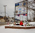 Sign welcoming visitors to Brilliant Ohio, winter season.jpg